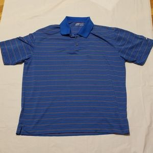 Nike Golf polo blue shirt men large size
